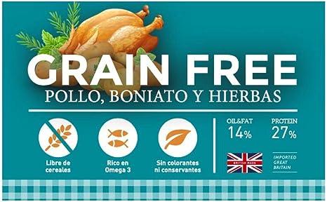 YERBERO Nature Grain Free de Pollo Comida SIN Cereales para Perros 2,5kg