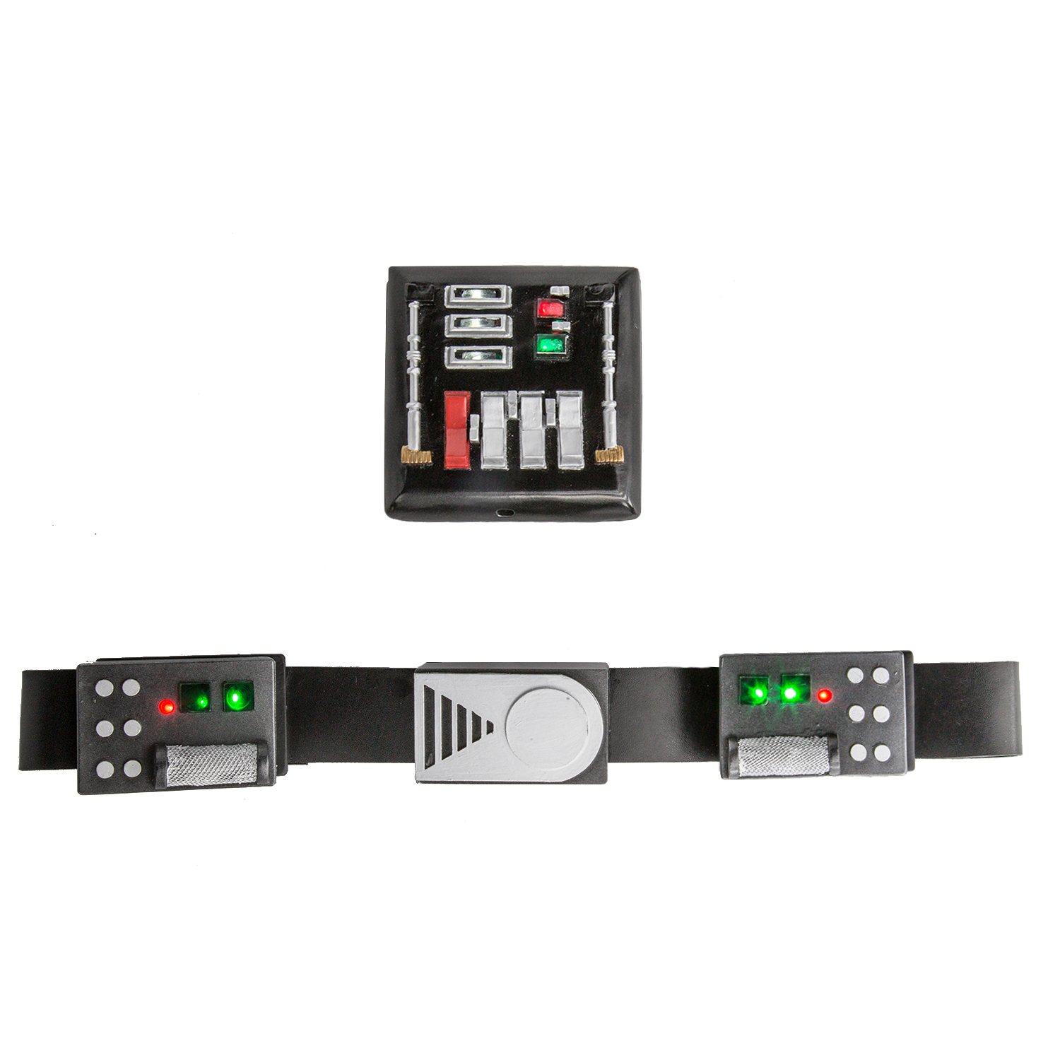 Deluxe Darth Vader Belt & Chest Plate with Led Lights Star Cosplay Wars Props