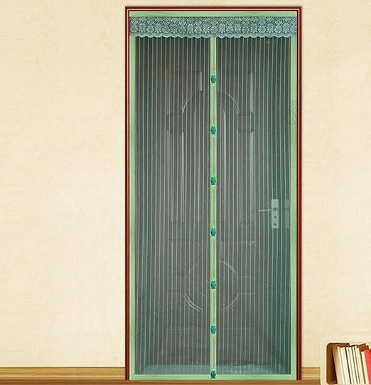 Cortina anti mosquitos, puerta de malla de malla de fibra de poliéster con pantalla magnética, puerta de vidrio corredera anti mosquitos/insectos/moscas/guardapolvos Puerta francesa puerta de pa: Amazon.es: Bricolaje y herramientas
