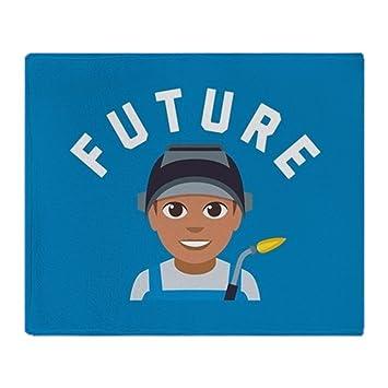 "CafePress – Emoji futuro soldador – suave manta de forro polar, 50 ""x60"""