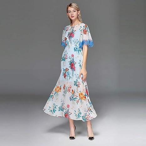 HECHEN Falda de Encaje con Estampado Floral de Primavera y Verano ...