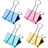 18 Pcs Colorful Extra Large Binder Clips 2 inch for Office