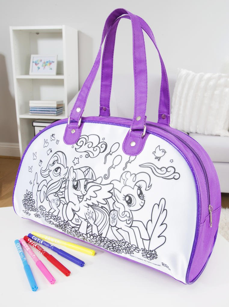 Little Pony My Color Your Own Weekender Bag and 5 Markers