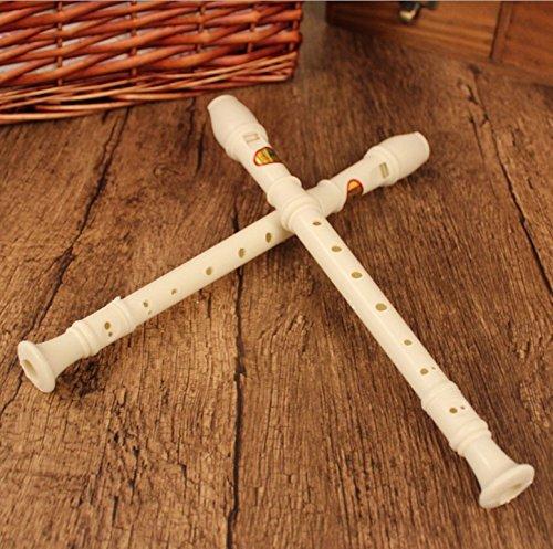 sea-junop学生ホワイトプラスチック8穴フルート子おもちゃMusical instrument-white instrument-white B075C2G5PS B075C2G5PS, 小郡町:98db9c07 --- lindauprogress.se