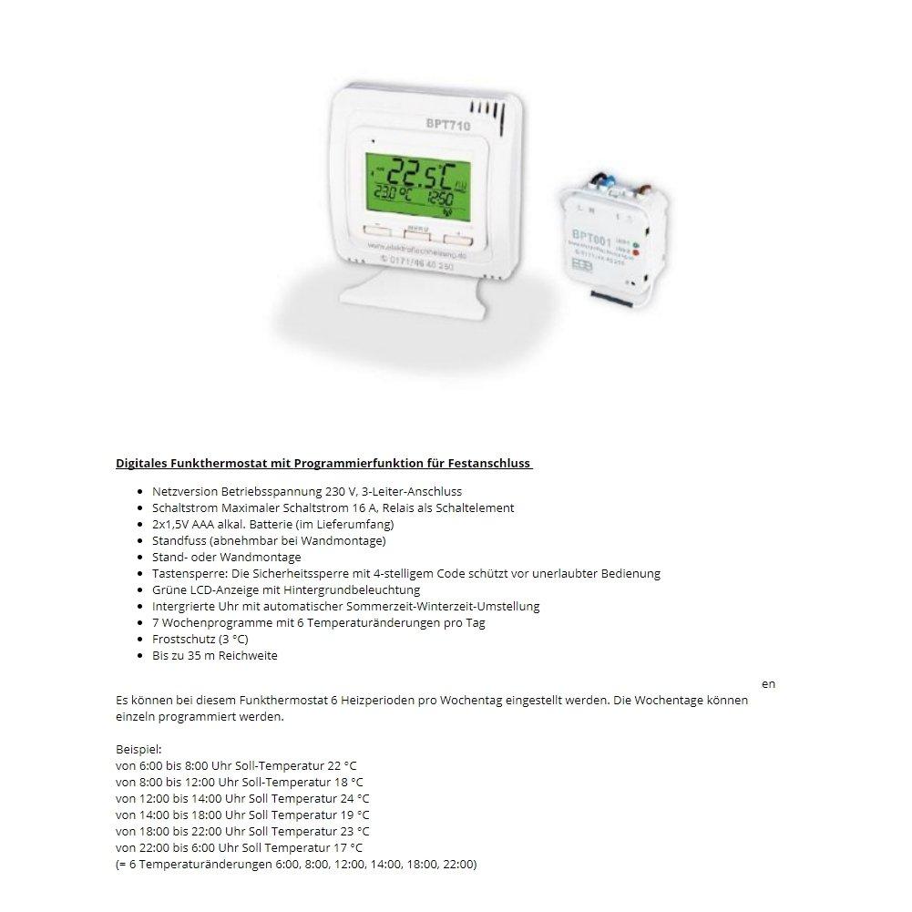 Ma/ße: LxHxT Wandmontageset und 1,8m Anschlusskabel Integriertes digitales Funkthermostat mit Programmierfunktion 3000 Watt 990x630x130 im Set inkl Radiator Elektroheizung