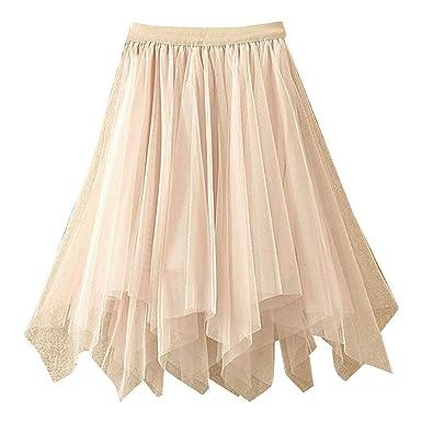 Vectry Falda Tul Mujer Falda Larga Faldas Mujer Cortas Elegante ...