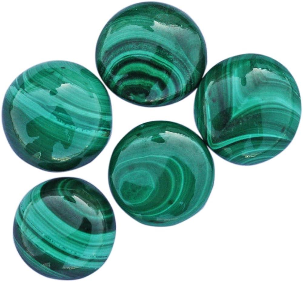 Healing Gemstone Malachite Cabochon Crystal - Marquise Cab Green Stone 59mm x 29mm x 7mm
