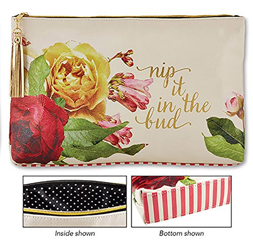 [Nip It In the Bud Oil Cloth Bag Large 17 x 10 x 2 Inches] (New Prima Chipboard)