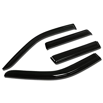 For Chevy Malibu 4pcs Tape-On Window Visor Deflector Rain Guard