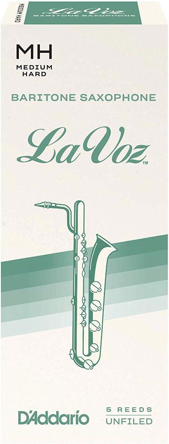 pack de 5 Medium Hard Anches pour saxophone baryton La Voz