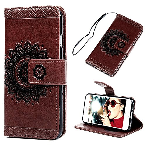 iPhone 6S/6 Wallet Case (4.7), YOKIRIN PU Leather Dream Catcher 3D Relief Totem Embossed Folio Flip Full Protective Cover with Credit Card Holder Kic…