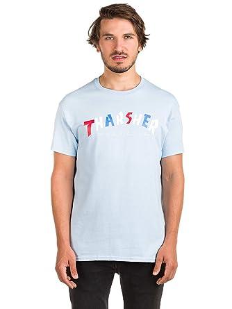 be5e437a7060 Thrasher Knock-Off (Light Blue) T-Shirt-Large | Amazon.com