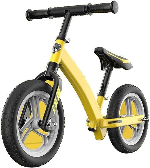 YUMEIGE Bicicletas sin pedales Bicicletas sin pedales de atletismo, Bicicleta Sin Pedales de aleación de aluminio, fácil de montar, Bicicleta de Equilibrio para niños, carga 25 kg altura 33-47 pulgada: Amazon.es: Jardín
