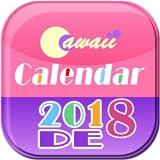 Cawaii DE Kalender 2018