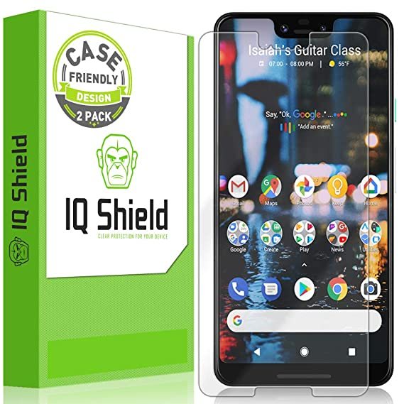 IQ Shield Screen Protector Compatible with Google Pixel 3 XL (2-Pack)(Case  Friendly) LiquidSkin Anti-Bubble Clear Film
