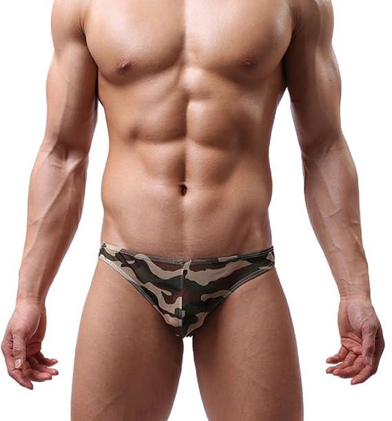 Para hombre de la ropa interior atractiva, Internet Hombres transparente respirable ultrafino grande de la