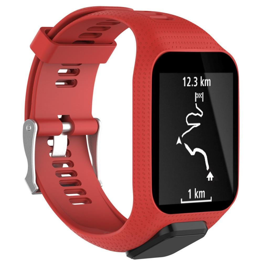 Kfso交換シリコンバンドストラップfor TomTom Spark / 3 Sport GPS Watch Band:23cm レッド  レッド B0798GGRDG