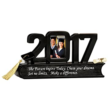 Class Of 2017 Graduation Photo Frame Gift Holds 2x3 Picture