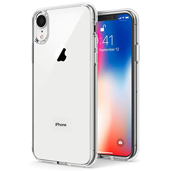 TENOC Case Compatible for Apple iPhone Xr 6.1 Inch, Crystal Clear Soft TPU Cover Full Protective Bumper