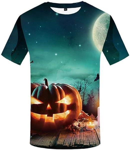 WARDE Camiseta psicodélica Hombres 3D Camisa de Halloween Amarillo Cosplay Impreso Camiseta Fiesta 3D Camiseta Anime Punk Rock Ropa de Hombre Nuevo, 3D Camiseta 04, L: Amazon.es: Ropa y accesorios