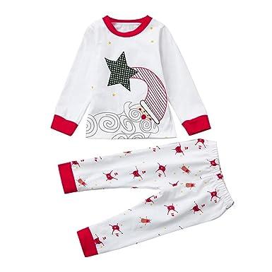05eca6dbb1 KEERADS 2Pcs My First Christmas Santa Claus Baby Boy Girl Romper Tops+Pants  Home Outfits