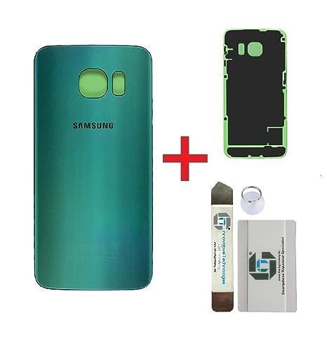 iTG® Original Akkudeckel Reparatur-Set für Samsung Galaxy S6 EDGE Grün (Green Emerald) – Original Samsung Rückseite Batteriea