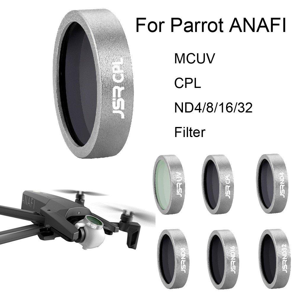 Colorful ND4 ND8 ND16 ND32 CPL MCUV Objektivfilter für Parrot ANAFI Drone Gimbal Kameraobjektiv