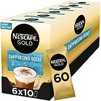 Nescafé Gold Cappuccino decafe ongezoet oploskoffie - 6 doosjes à 10 zakjes