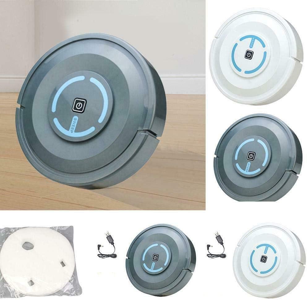 LSXLSD Aspirateurs intelligents Ultra-Mince Balayer Robot Automatique Accueil Balayer poussière Stériliser Machine de Nettoyage Robot (Color : White) Gray
