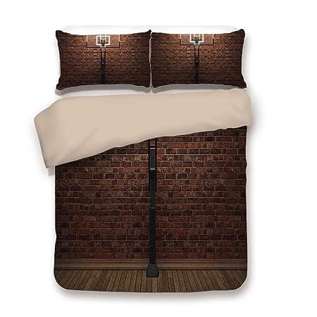 Juego de ropa de cama, decoración deportiva, portería llena de ...