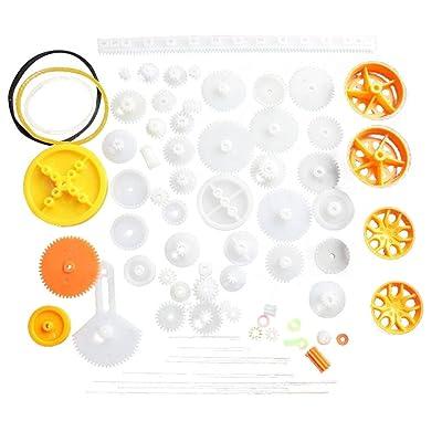 Royalr Engranaje de Rodadura de plástico Preparar Varias Clases de Engranaje Paquete de Coches de Juguete Accesorios del Motor del Engranaje de Gusano de Bricolaje de Eje de la Correa bujes: Hogar