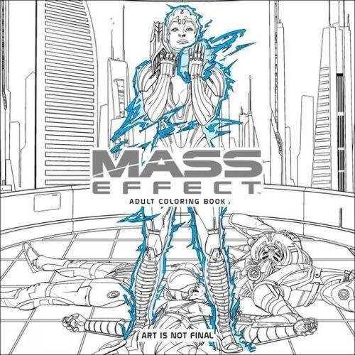 amazoncom mass effect adult coloring book 9781506702872 bioware books