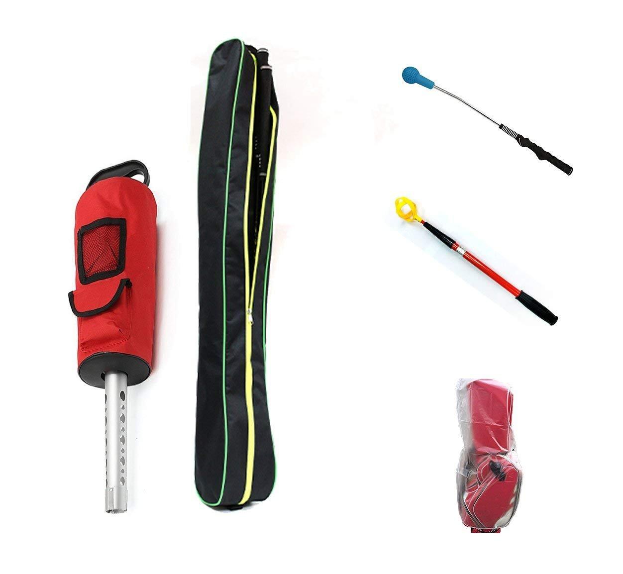 POSMA BR020CゴルフボールShagger伸縮ボールレトリーバーバンドルギフトセット付きゴルフボールピックアップ+ゴルフスイングトレーナー   B07FR1LCPM