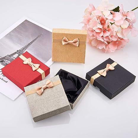 NBEADS Juego de 12 cajas de regalo para pulseras de cartón cúbico, caja de regalo, varios colores, 9 x 9 x 9 cm: Amazon.es: Hogar