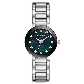 Amazon.com  Bulova Women s Analog-Quartz Watch with Stainless-Steel ... f3d555c1a5