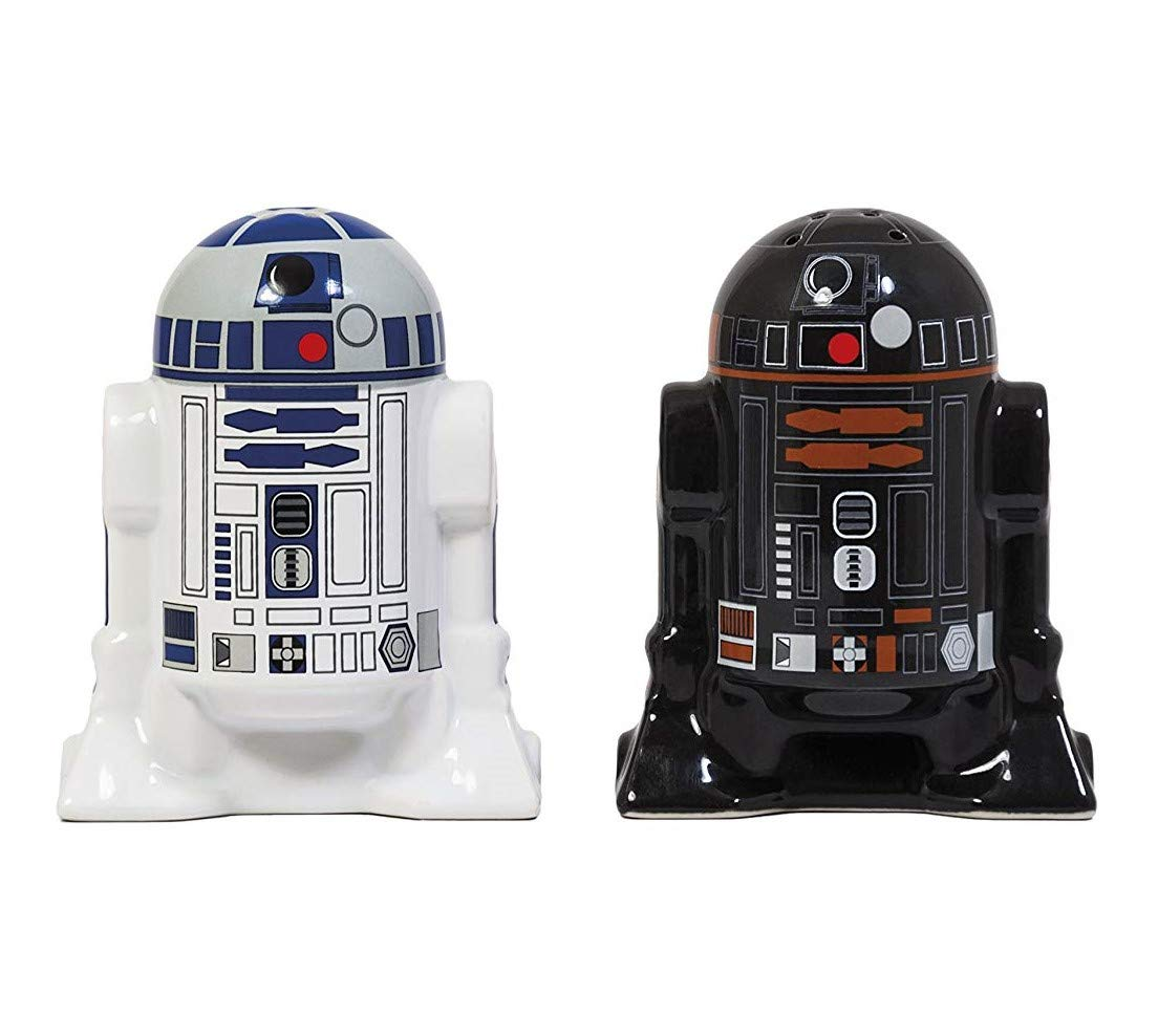 Bluw Star Wars Droid Salt and Pepper Shakers, Cerámica, Multicolor, Centimeters, 2 Unidades