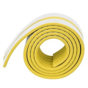 Furniture Edge and Corner Guard Baby Safety Bumper Child Protection Foam Strip 6.5Ft NonToxic and Safe for Table, Fireplace, Countertop(Yellow)