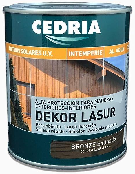Lasur protector madera exterior al agua Cedria Dekor Lasur 750 ml ...