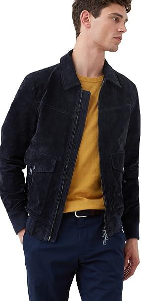 save off exclusive range best online MANGO MAN - Suede Jacket - Size:XXL - Color:Dark Navy: Amazon.co ...