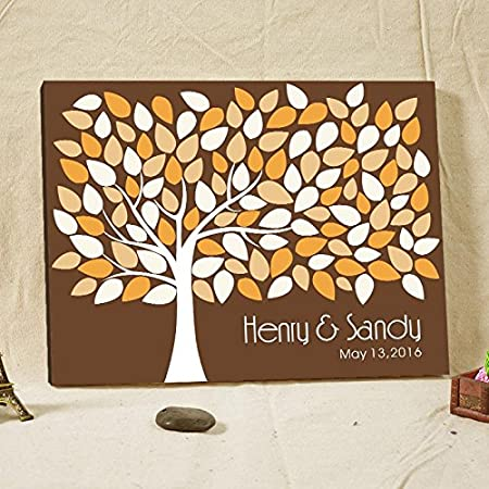 Personalized Wedding Guest Book Alternative Champagne Tree