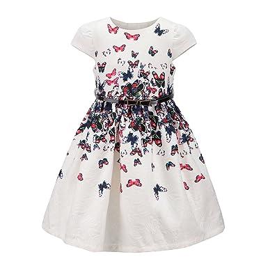 a07416ec80f85 Kids Fashion world Girls Floral Party Dress Princess Dresses for Kids  Butterflies Size 2-3