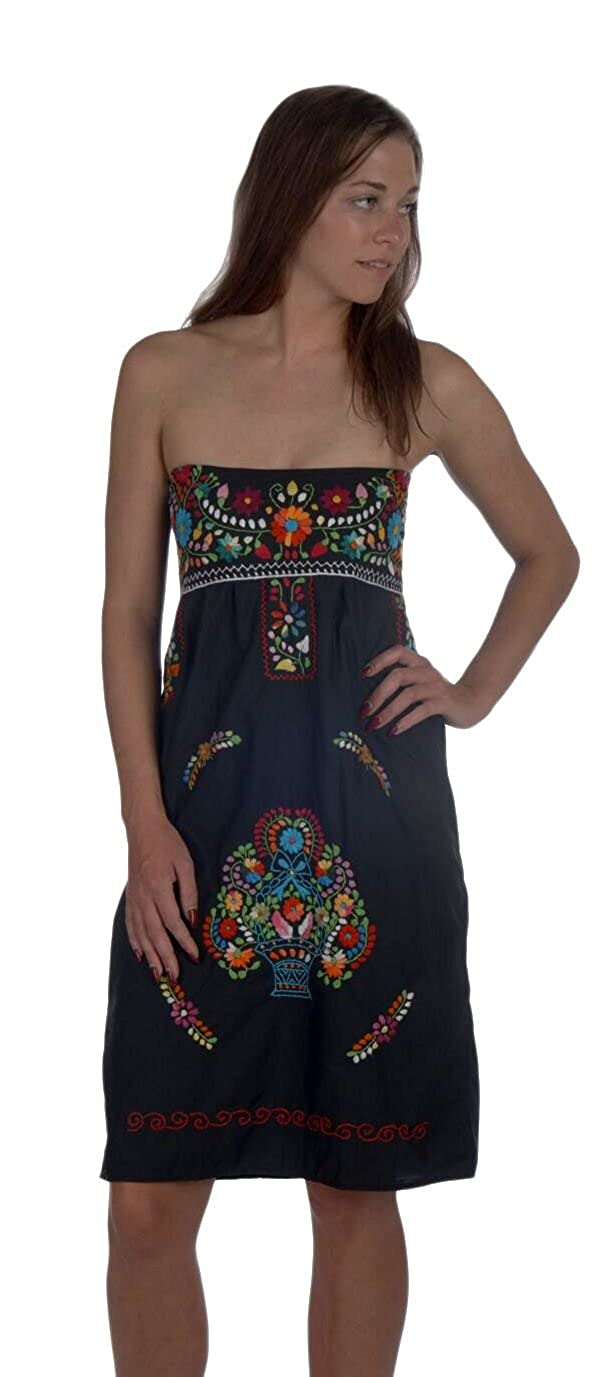 6fd1a102d747b Hand embroidered in Mexico HAND MADE- Each Liliana Cruz dress is sold  exclusively on Amazon by CMFA and is hand embroidered and hand sewn in  small villages ...