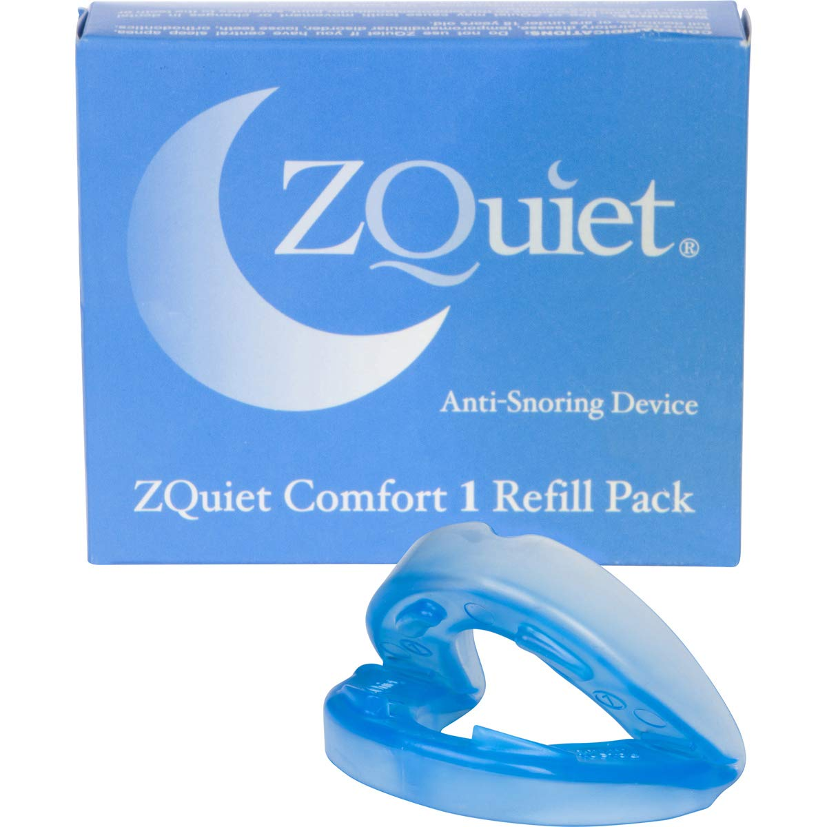 ZQuiet® Anti-Snoring Device, Size: Comfort 1 (+2mm) Mouthpiece, Refill ONLY (Try Starter Kit First to Ensure This is Your Optimal Size)