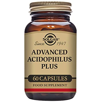 Solgar – Advanced Acidophilus Plus, 60 Vegetable Capsules