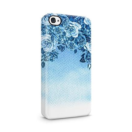 new arrival b520e 28ff8 Amazon.com: Light Blue Roses Floral Ombre Hard Plastic Phone ...