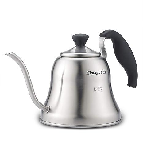 Amazon.com: Pour Over Tetera de acero inoxidable para café ...