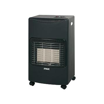 Estufa a Gas GLP con panel de infrarrojos, catalítica, con 3 niveles, 4200 W, negra, con ruedas: Amazon.es: Hogar