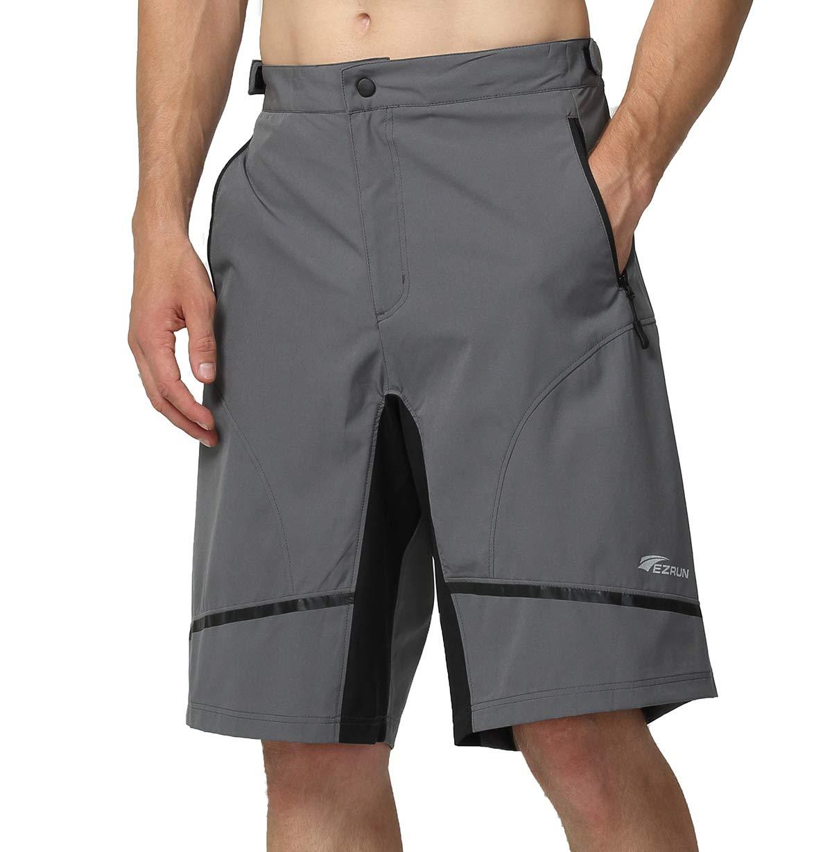 EZRUN Men s Mountain Bike Shorts Quick Dry Lightweight Water ... 022233e89