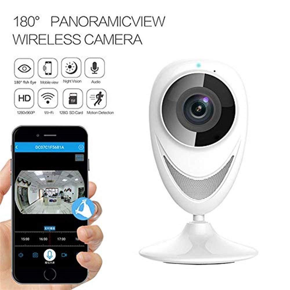 【激安アウトレット!】 監視カメラ ホームワイヤレスカメラ360° VRパノラマネットワークカメラ赤外線ナイトビジョンモーション検出機能屋内魚眼監視、子供/ペット/高齢者用 監視カメラ wifi 監視カメラ B07R6PCD3H, ニュークイック:13d61352 --- ballyshannonshow.com
