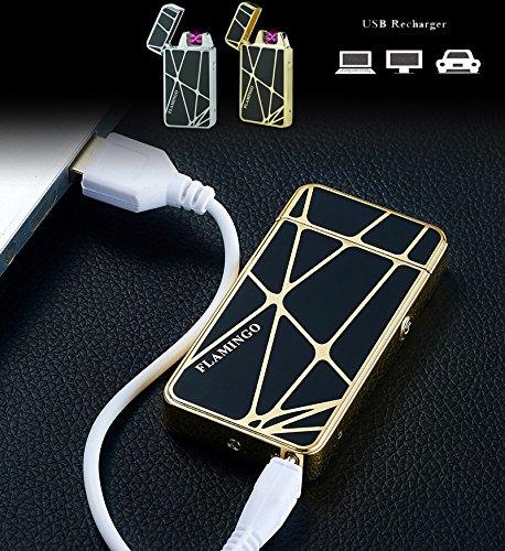 Windproof Lighter,Electronic Lighter usb Electronic Arc Lighter Flameless Rechargeable Cigarette Lighter Best Gift No Gas